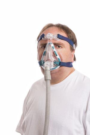 apnea: Sleep Apnea Man Stock Photo