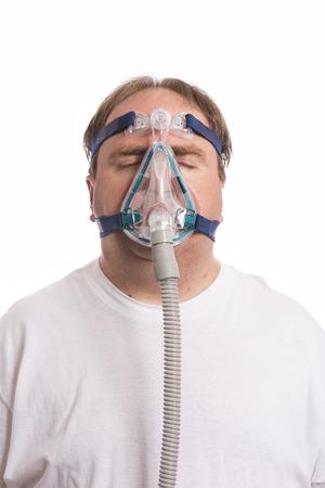 sleep mask: Sleep Apnea Man Stock Photo