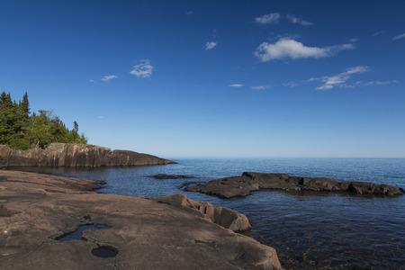 スペリオル湖の景観 写真素材