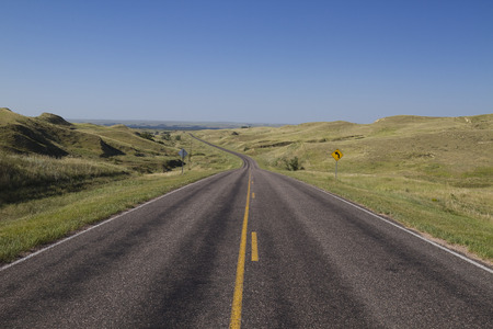 ネブラスカ州の高速道路の風景 写真素材