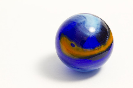 orange swirl: Blue and Orange Swirl Marble Stock Photo