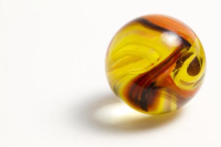 オレンジと黄色の渦巻きマーブル 写真素材
