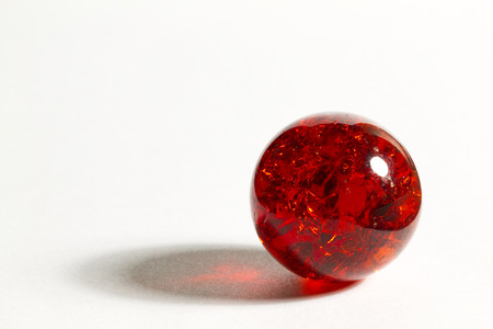 Red Glass Marble Stock Photo
