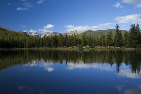 에코 호수 산의 경치 스톡 콘텐츠