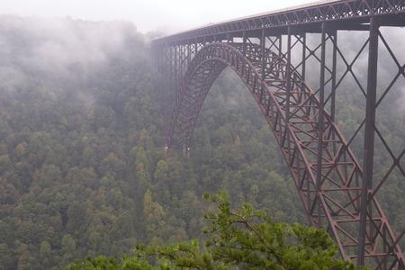 新しい川峡谷橋 写真素材