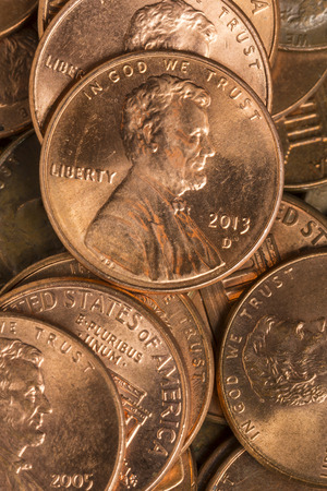 United States Pennies Stock Photo