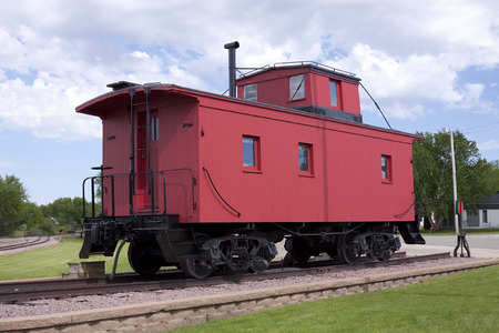caboose: Red Wooden Caboose