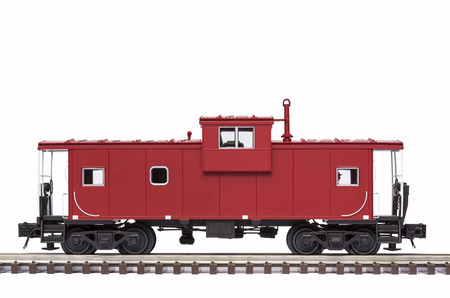 Red Caboose On Track