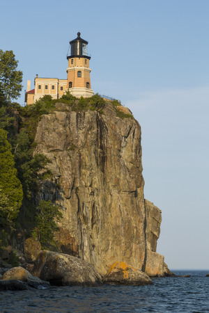 Split Rock Lighthouse Along Lake Superior 版權商用圖片