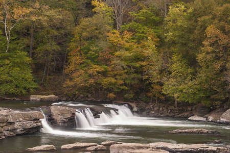 Valley Falls In Autumn photo