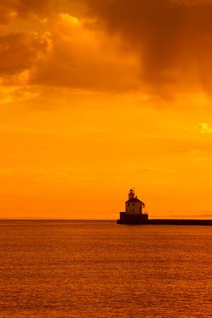 wisconsin: Wisconsin Point Lighthouse Sunrise
