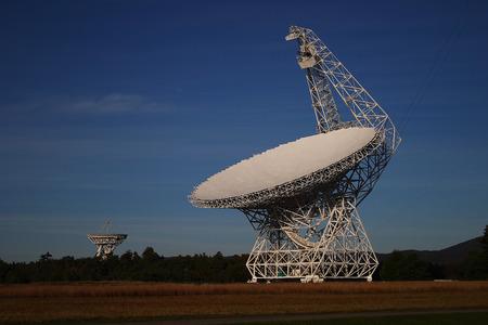 ラジオ宇宙望遠鏡 写真素材
