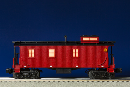 caboose: Red Illuminated Caboose