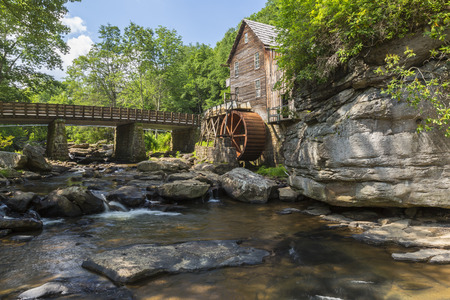 grist mill: Grist Mill with Water Wheel