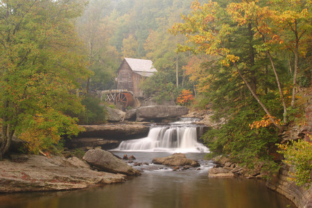 Grist Mill In The Woods Archivio Fotografico