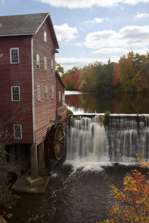 grist mill: Old Grist Mill In Autumn
