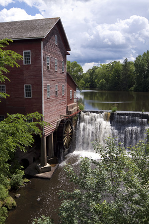 grist mill: Old Grist Mill In Summer