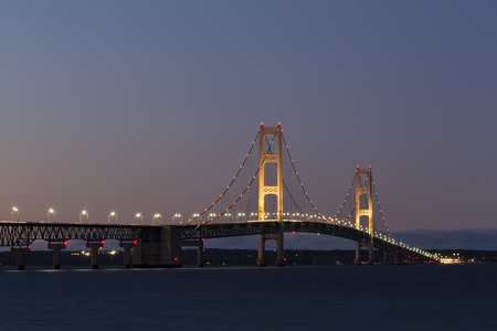 Big Mackinac Bridge At Night