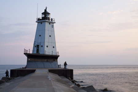 ludington: Ludington Michigan Lighthouse Stock Photo