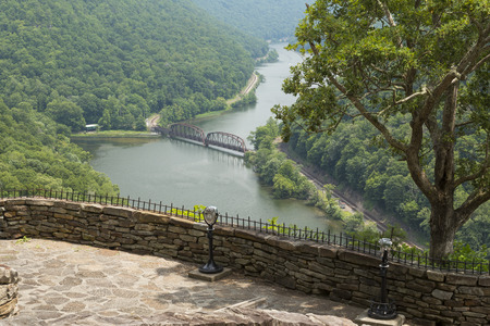 overlook: New River Gorge Overlook Stock Photo