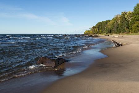 superior: Lake Superior Sandy Shore