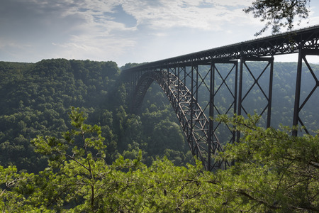 New River Gorge Bridge 版權商用圖片