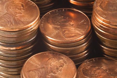 Copper Penny Stacks