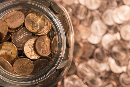Penny Jar Stock Photo