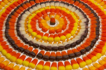 Candy Corn Circles Of Various Flavors