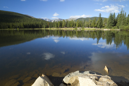 mount evans: Echo Lake Near Mount Evans Colorado Stock Photo