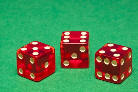trio: Red Dice Trio Stock Photo
