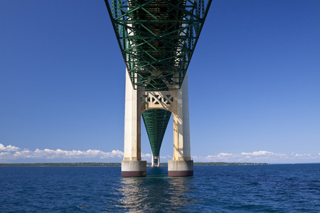 mackinac: Below Big Mackinac Bridge Stock Photo