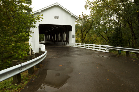 is covered: White Covered Bridge