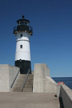 navigation aid: Duluth N Pier Lighthouse Stock Photo
