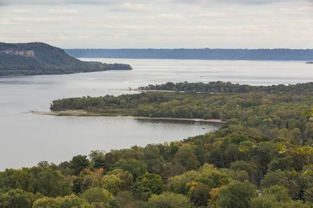 ミシシッピ川の湖ピピン 写真素材