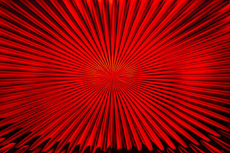 focal: Red Glass Abstract
