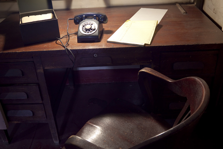 old desk: An old office in an old ship. Editorial