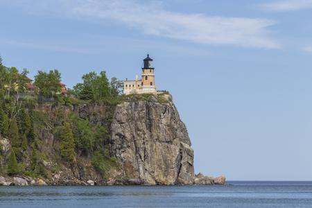 sea cliff: Split Rock Lighthouse