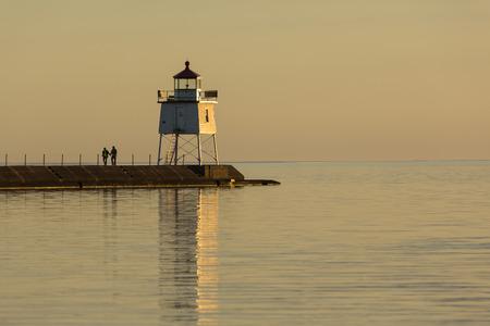 breakwater: Two Harbors Breakwater Lighthouse