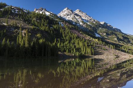 reflective: Mount Pyramid with reflective lake