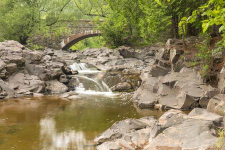 amity: Amity Creek Falls and Stone Arch Bridge
