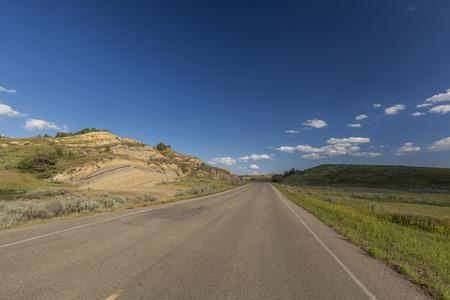 Road In North Dakota Badlands