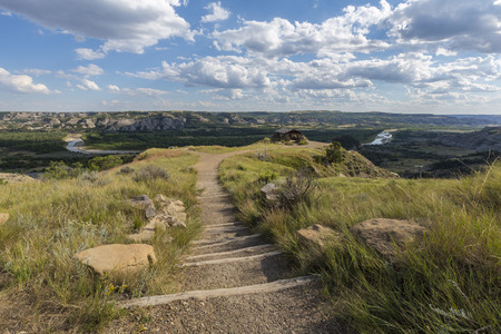overlook: Trail To Badlands Overlook Stock Photo