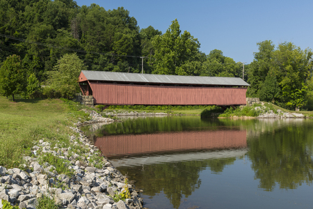 Milton Covered Bridge Stock Photo