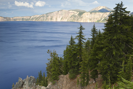 crater lake: Crater Lake Scenic Stock Photo