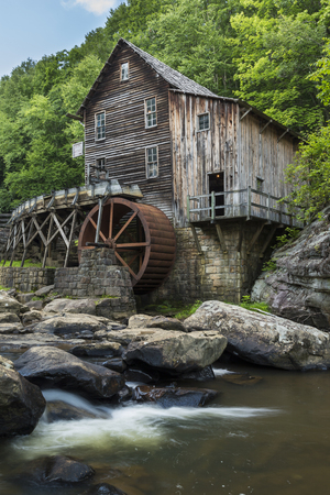 Old Grist Mill with Water Wheel