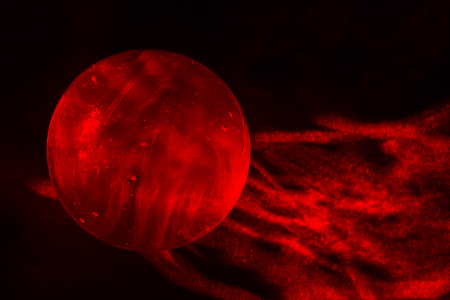 red sphere: Red Laser Light Painted Marble