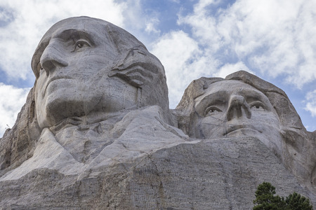 head stones: Washington and Jefferson On Mount Rushmore