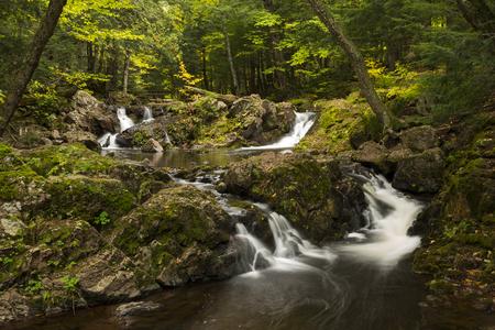 overlook: Overlook Falls Waterfall Stock Photo