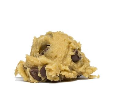 チョコレート チップ クッキーの生地 写真素材